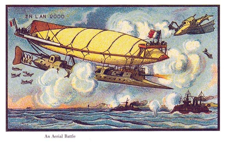 Карточка серии «Франция в 2000 году» — «Воздушная битва»