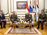 Министр обороны РФ Сергей Шойгу и министр обороны Египта Седки Собхи во время встречи. 29 ноября 2017