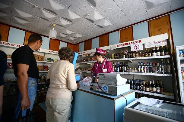 Магазин в Белорусской деревне Погост