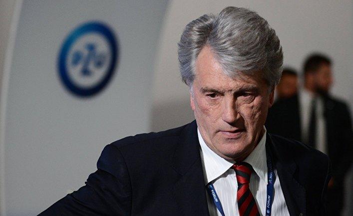 Экс-президент Украины Виктор Ющенко на экономическом форуме в Крынице-Здруй. 6 сентября 2017
