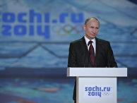 """В.Путин на торжественной церемонии """"Год до Олимпийских игр-2014"""""""