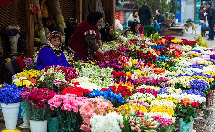 Цветочный базар в Стамбуле