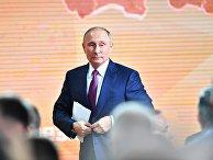 Президент РФ Владимир Путин после ежегодной большой пресс-конференции