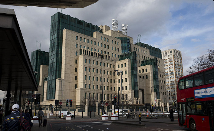 Штаб-квартира внешней разведки Великобритании MI6 в Лондоне.