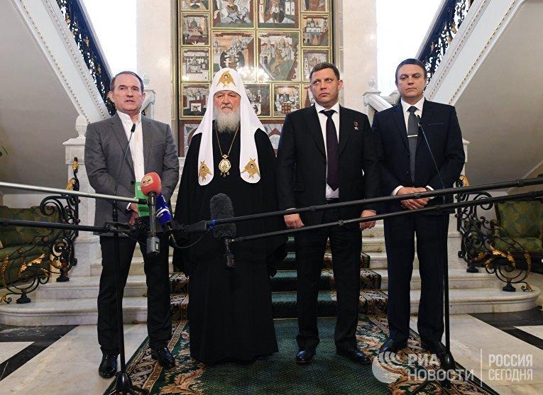 Патриарх Кирилл провел встречу по вопросу обмена пленными в Донбассе