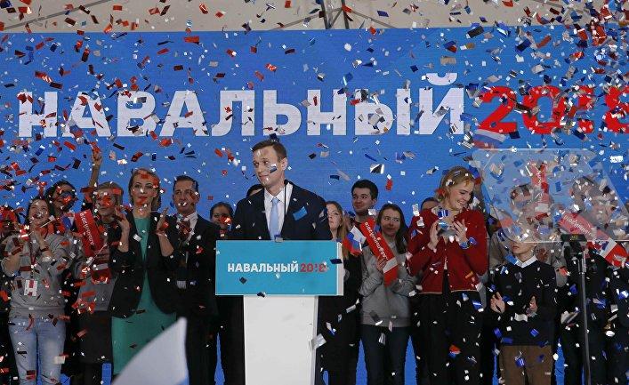 Оппозиционер Алексей Навальный на заседании, на котором он поддержал свою кандидатуру на пост кандидата в президенты, Москва. 24 декабря 2017