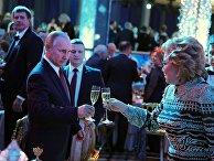 Президент РФ Владимир Путин на приеме в честь Нового года в Кремле