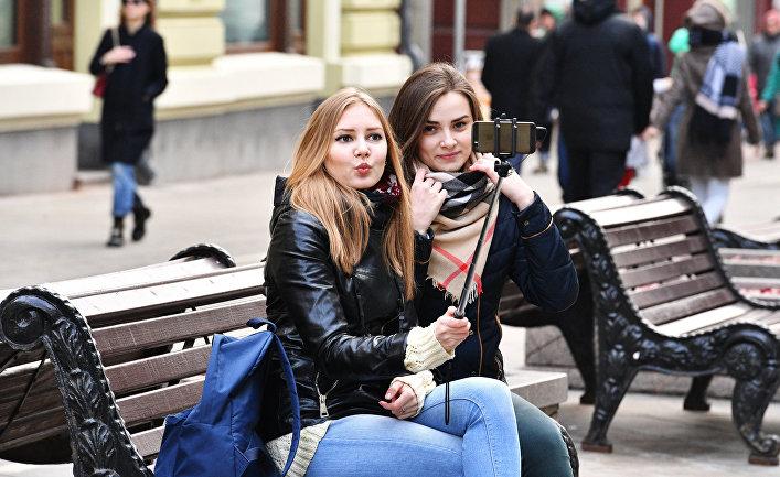 Русская жена на улице
