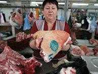 Контроль качества мяса на Центральном рынке Новосибирска