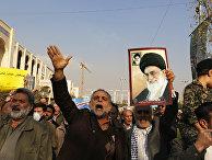 Демонстранты в Иране. 5 января 2018