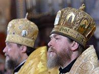 Епископ Тихон Шевкунов на Рождественском богослужении в храме Христа Спасителя