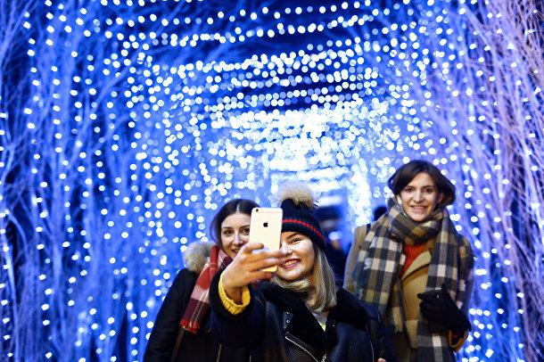 Селфи на рождественской ярмарке в Загребе