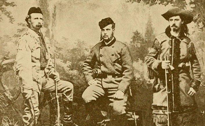 Полковник Джордж А. Кастер, великий князь Алексей из России и «Буффало Билл»