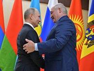 Президент РФ В. Путин принял участие в неформальной встрече глав государств СНГ