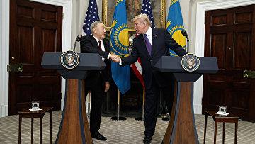 Президент США Дональд Трамп и президент Казахстана Нурсултан Назарбаев