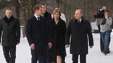 Владимир Путин и Александр Беглов перед встречей с ветеранами ВОВ