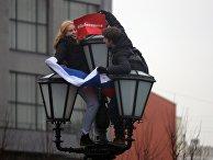 """Участники несанкционированной акции """"Забастовка избирателей"""" в Москве"""