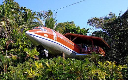 Отель в Boeing 727 в Коста-Рике