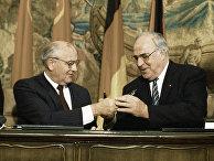 Михаил Горбачев и Гельмут Коль