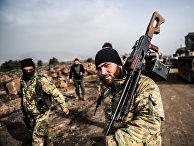 Турецкие войска во время операции «Оливковая ветвь»