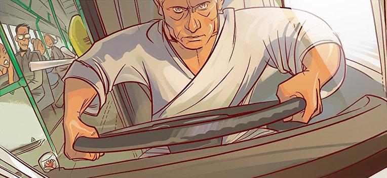 В российском комиксе Путин и Медведев стали супергероями