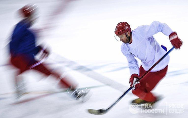 Олимпиада 2018. Хоккей. Тренировка сборной России