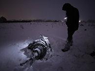 Место крушения самолета Ан-148 в Московской области