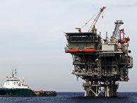 Израильская газовая платформа в Средиземном море