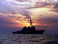 Эсминец ВМС США USS Carney в водах Персидского залива