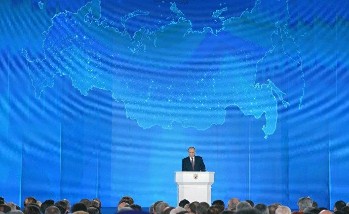Владимир Путин обращается  с Посланием  к Федеральному Собранию<br>1 марта  2018